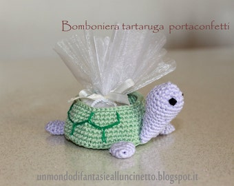 Favor turtle crocheted