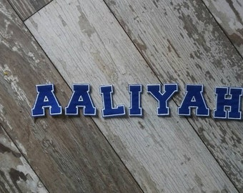"""Custom Block Letter Name and Custom Colors Iron On Patch! Up to 10 individual 2"""" letters!"""