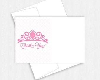 Princess Castle, Birthday Party, Princess Party, Princess Birthday, Princess Crown, Thank You Note, Thank You Card, First Birthday