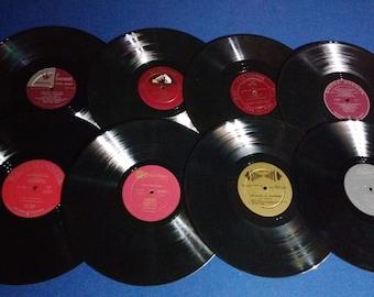 Set of 16 Vintage Crafting Vinyl, 12 Inch, Interesting Label Set #5 /DIY Coasters / Crafting Albums
