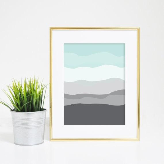 Abstract Art Print, Mint Print, Gray Print, Mint and Gray, Abstract Decor, Minimalist Print, Minimalist Art, Nursery Decor, Abstract Nursery