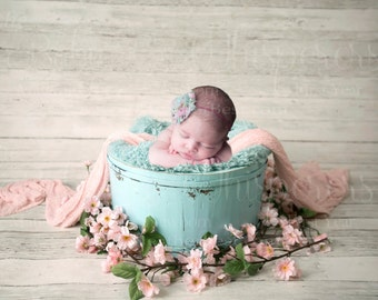 Digital Background Pink and Teal Newborn INSTANT DOWNLOAD