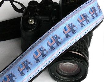 Elephants Camera Strap. dSLR Camera Strap. Canon, Nikon Camera Strap. Cute Camera Strap. Women Accessories