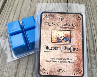 Scented Wax Melts ~ BLUEBERRY MUFFINS Wax Melt ~ Wickless Candle ~ Highly Scented ~ Handmade/Poured ~ Scented Candle Melts