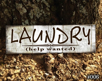 Laundry Room Help Wanted Sign Help Wanted  Etsy