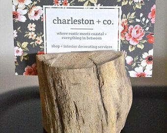 Driftwood Place Card Holder/Business card holder
