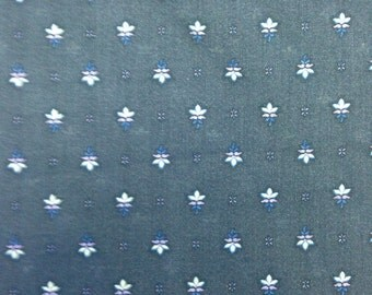 Cotton Voile Printed Navy