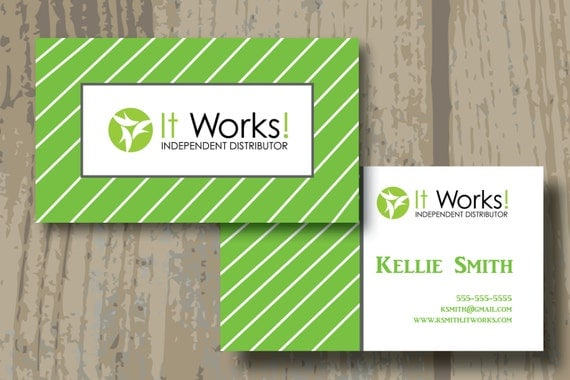 Itworks business cards printed or digital by for It works global business cards