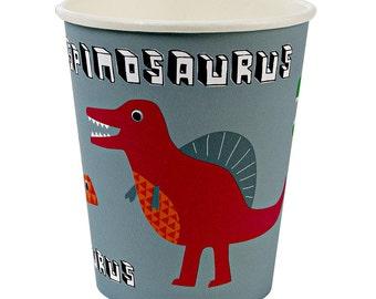 Cups | Dinosaur Party Cups | Dinosaur Party | Paper Party Cups | 12 Cups per Pack | Paper Cups | Dinosaur Cups