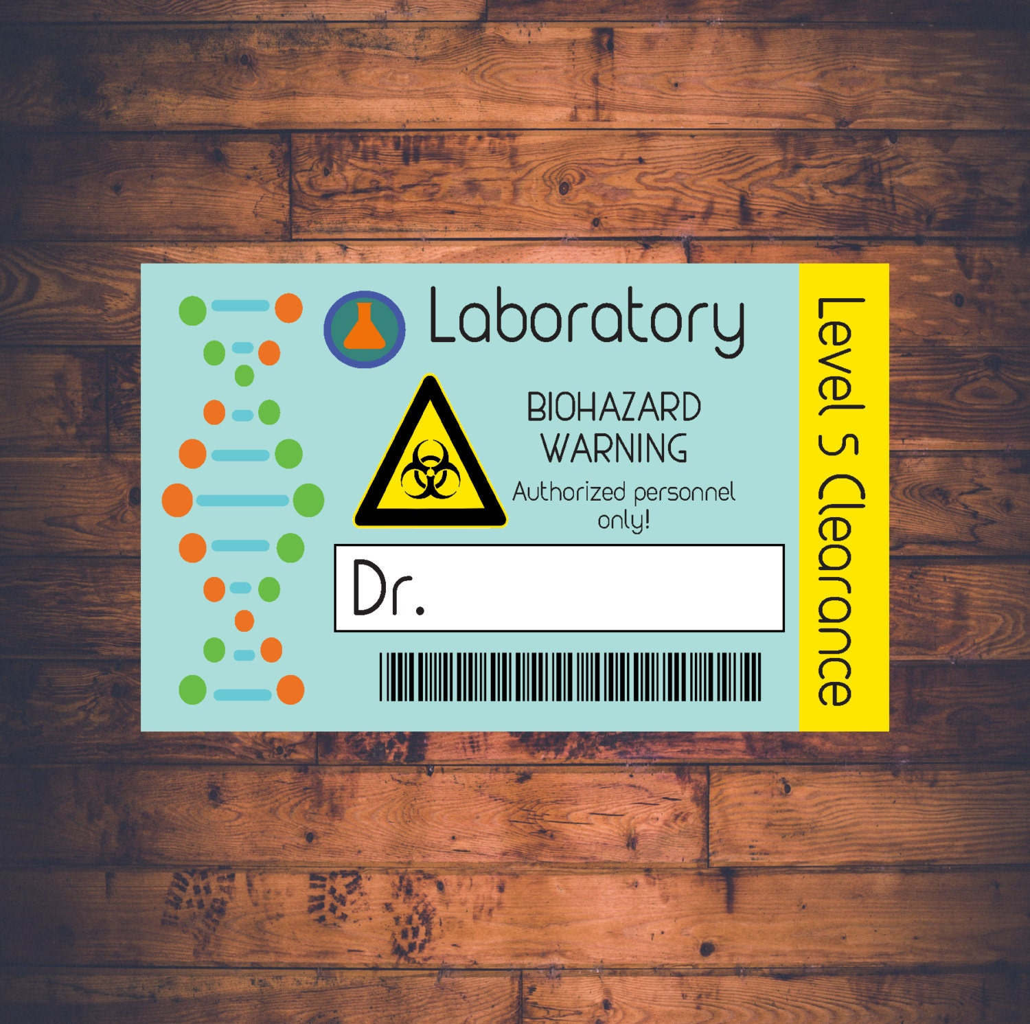 Science Lab Name Badge Printable and Customizable Scientist