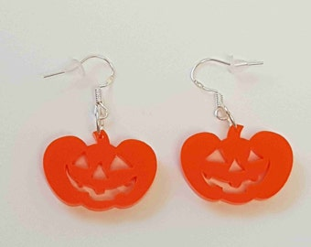 Halloween Pumpkin Earrings - Acrylic