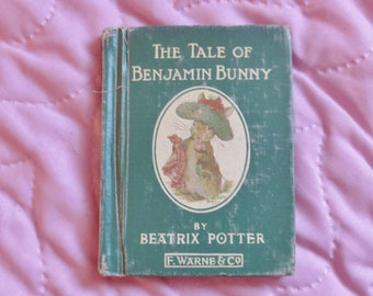 The Tale of Benjamin Bunny, Beatrix Potter book, vintage children's book, collectible children's book