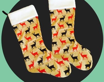 Christmas stocking / Raindeers /stocking / christmas /modern