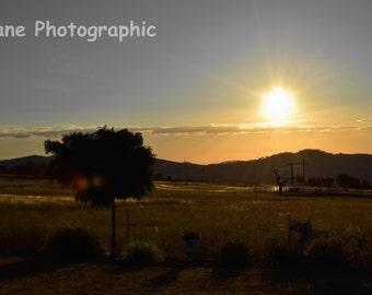 Aussie Sunset Photo print