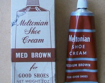 Vintage 1950s Meltonian Shoe Cream - Original Box