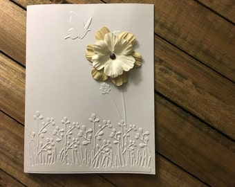 Blank Flower Greeting Card