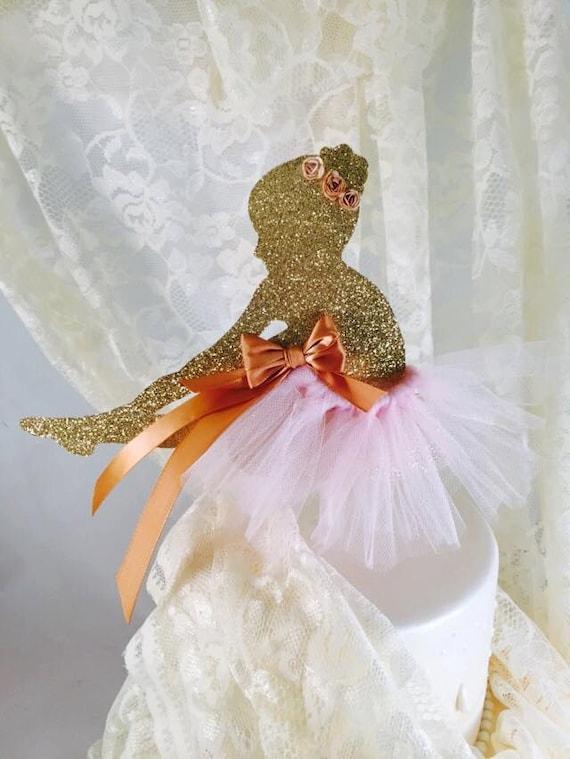 Ballerina cake topper ballet cake topper ballerina party for Ballerina party decoration