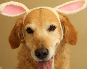 Bunny Ears for Dogs, Rabbit Ears for Dogs, Dog Bunny Hat, Easter Hat for Dogs, Dog Eater Costume, Easter Photo Prop for Dogs, Dog Bunny Ears