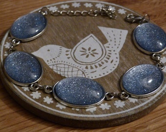 Silver Glitter Bracelet