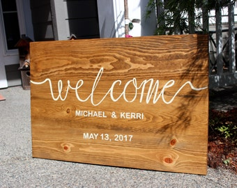 Rustic Entry Welcome Sign