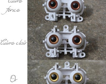 Eyechips pullip 12 mm - metals (gold, copper)