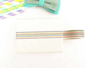 Colorful stripes washi tape, cute deco tape, paper tape, cute tape, packaging, wrap tape,happy stripes