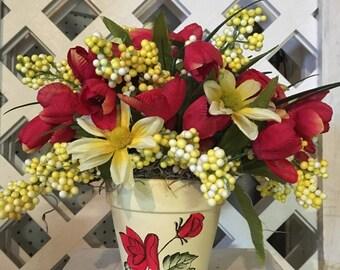 Artificial Flower Spring Arrangement