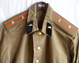 USSR Army military Offiser jacket and  breeches galife field uniform. Major of Armored Forces.