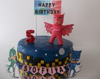 PJ Masks Cake Topper, PJ Masks Fondant Cake Topper