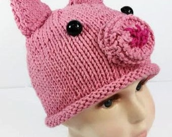 Pig Hat - Pig Baby Hat - Piglet Hat - Piggy Hat - Pig Hat for Baby - Animal Hat - Pink Baby Hat - Photo Prop - Baby Pig Hat - Girls Pig Hat
