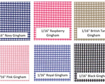 GINGHAMS/CHECKS -Fabric Options for Your Applique