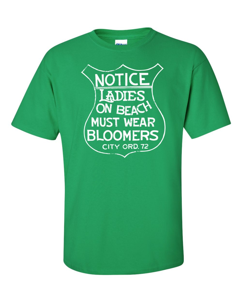 Notice Ladies On Beach Must Wear Bloomers Vintage Beach Sign T-shirt