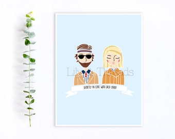 Wes Anderson The Royal Tenenbaums Richie and Margot Couple Illustration Art Print