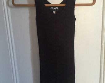 1990s Black Bandage Dress xs