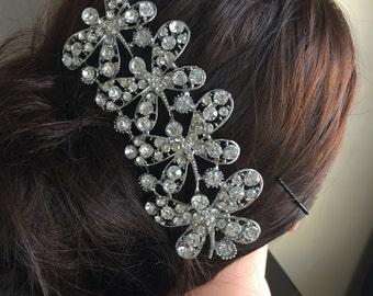 Wedding Hair Comb, Bridal Comb, wedding comb, Rhinestone Comb, Crystal Vintage Comb, Swarovski Comb, Bridal Crystal Comb, Bridal Hair Comb