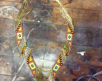 Vintage beaded indian necklace