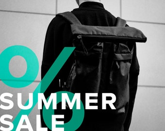 Perfect Backpack with two front pockets / Laptop Bag / SALE