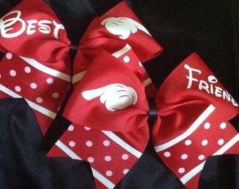Mickey Mouse Best Friends Bow Set - Disney Land Hair bow Set - Mickey Mouse Bow set - Disney Trip Bows
