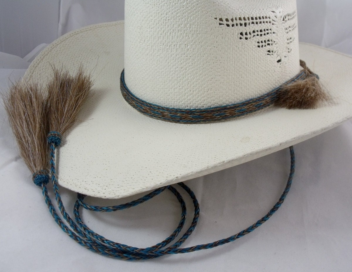 Horsehair Cowboy hat hat band and stampede string chin