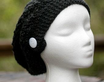 Black Slouchy Hat