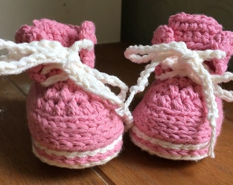 Made to order crochet baby trainers