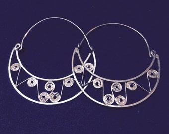 Tribal hoop - silver - handmade in Cairo
