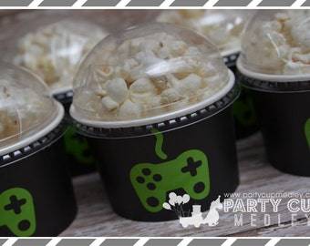 Video Gamer Birthday Party-Gamer Party Cups-Treat Cups