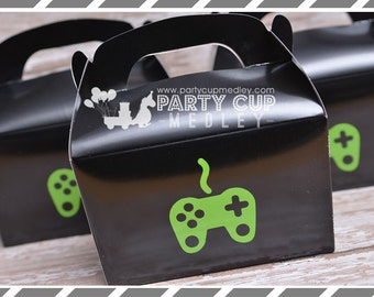 Video Gamer Party Favors-Video Game Party Cups-Popcorn Cups