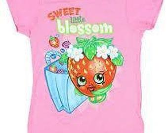 Strawbery Kiss- Shopkins Girls Tshirt