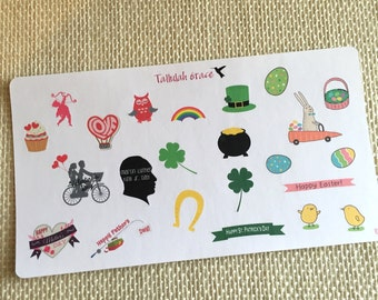 H087 - Holiday Mix II Planner Stickers | Perfect for Your Erin Condren Life Planner