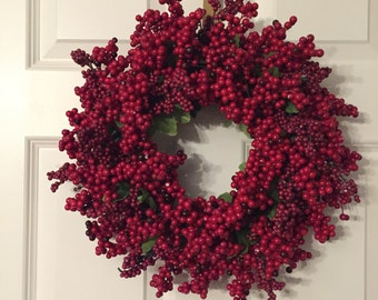 Festive Cranberry Wreath