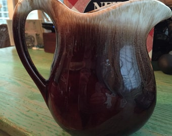 Vintage McCoy Small Pitcher, Brown Drip Pottery, #365, Water Pitcher, Milk Pitcher
