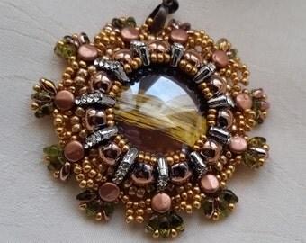 """pendant """"Fiorenza"""" gold and copper"""