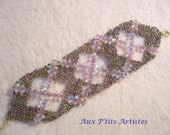 Amethyst Swarovski crystal cuff bracelet